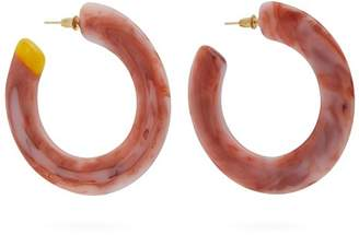 Cult Gaia Mira Marbled Acetate Hoop Earrings - Womens - Red