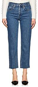 RE/DONE Women's High Rise Stovepipe Crop Jeans - Blue