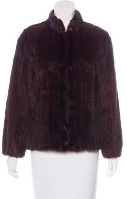 Mink Fur Striped Jacket
