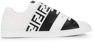 Fendi logo print panel sneakers