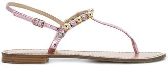 Versace beaded thong sandals