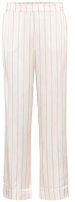 Asceno Striped silk pyjama bottoms