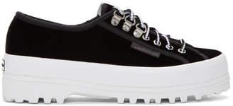 ALEXACHUNG Black Superga Edition Velvet 2748 Sneakers