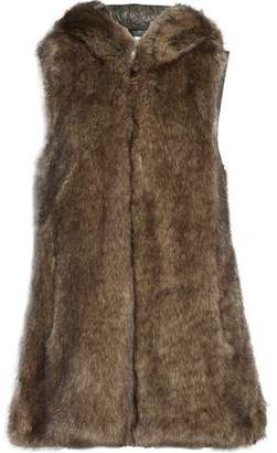 Ashley B. Paneled Faux Fur And Quilted Shell Hooded Gilet