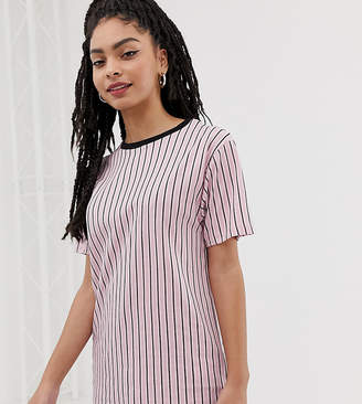 cb8f6a5ac8 Showing 187 womens vertical striped shirt. at ASOS · New Look vertical  stripe long line tee in pink pattern