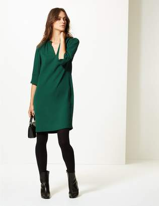 Marks and Spencer Satin 3/4 Sleeve Shift Dress