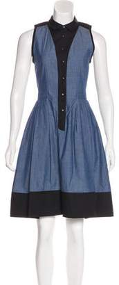 Proenza Schouler Chambray Colorblock Dress