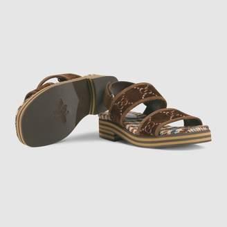 Gucci GG velvet strap sandal