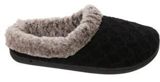 Dearfoams DF by Women's Sweater Knit Clog Slippers