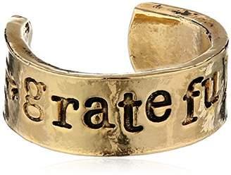 Alisa Michelle Back To Basics Grateful Stamped Adjustable Ring