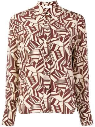 Chloé geometric print shirt