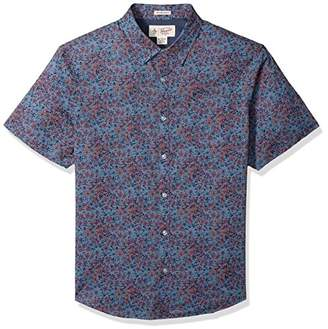Original Penguin Men's Short Sleeve Floral Print Lawn Shirt