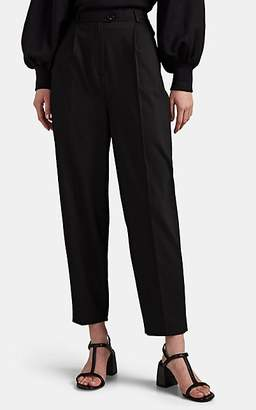LES COYOTES DE PARIS Women's Lot Wool-Blend Slim Pleated Trousers - Black