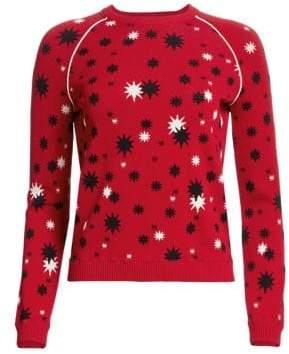 RED Valentino Splattered Star Knit Sweater