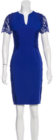 Emilio Pucci Emilio Pucci Lace-Trimmed Sheath Dress