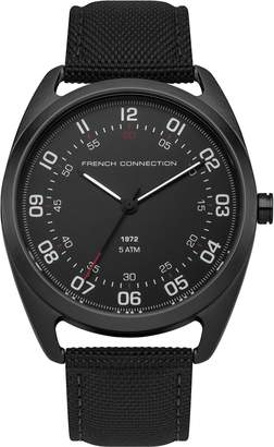 French Connection Men's Quartz Metal and Nylon Casual Watch, Color: (Model: FC1308BB)