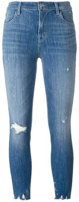 J Brand distressed cropped jeans
