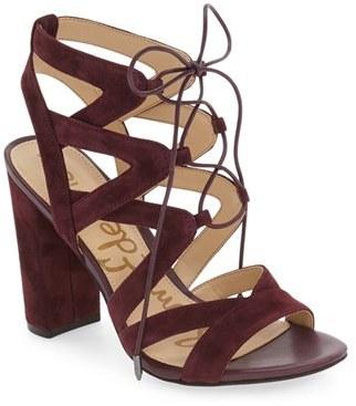 Women's Sam Edelman 'Yardley' Lace-Up Sandal $129.95 thestylecure.com