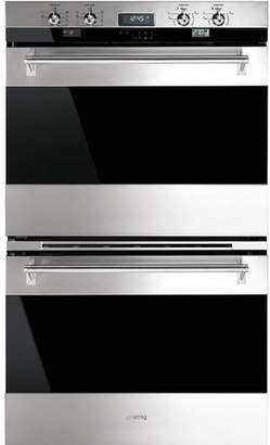 "Smeg 30"" Self Cleaning Electric Double Wall Oven"