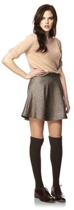 Galaxy Crepe Flared Skirt
