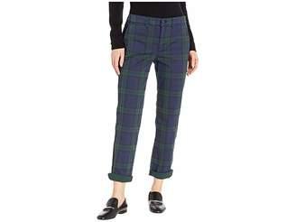 Lauren Ralph Lauren Tartan Stretch Cotton Skinny Pants
