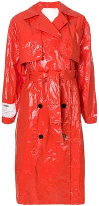 MSGM buttoned up rain coat
