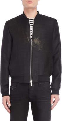 Emporio Armani Black Bomber Jacket