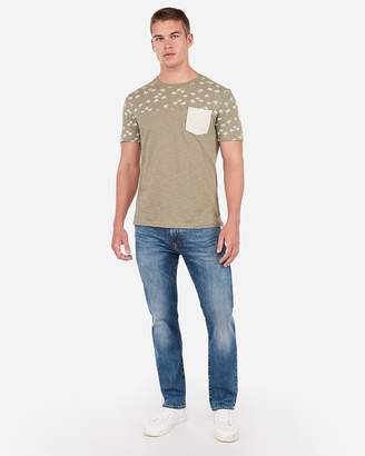 Express Palm Tree Color Block T-Shirt