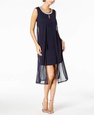 Connected Embellished Chiffon Flyaway Dress