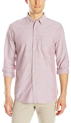 Obey Men's Dissent Trait Woven Long Sleeve Shirt