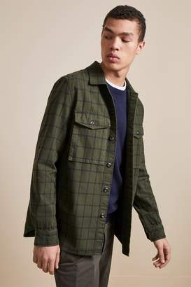 French Connenction Yarn Dyed Twill Overcheck Shacket