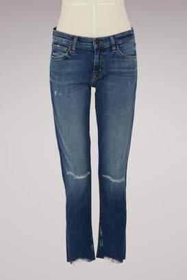 J Brand Sadey mid-rise slim straight jeans