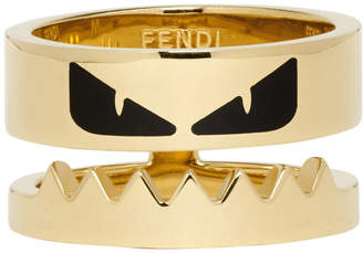 Fendi Gold Bag Bugs Mouth Ring