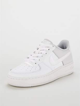 8093e3b62be7bf Nike Force 1 Junior Trainers - White Iridescent