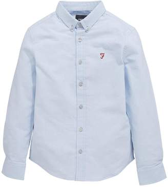 Farah Brewer Long Sleeve Oxford Shirt