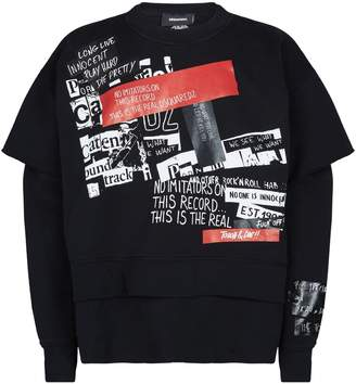DSQUARED2 Punk Print Sweatshirt