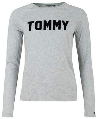 473fd0a4 Tommy Hilfiger Nevi Long Sleeved T-shirt Colour: GREY, Size: MEDIUM