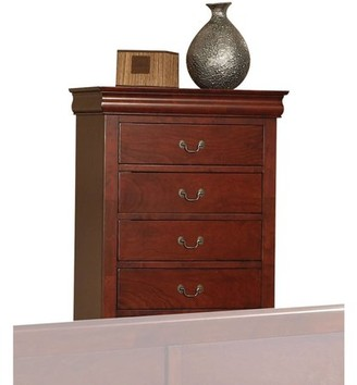 ACME Furniture Louis Philippe III Cherry Chest with Five Drawers