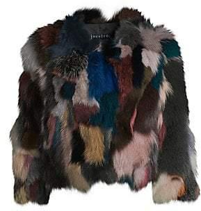 Jocelyn Women's Savage Love Multicolor Fox Fur Sectioned Bolero