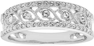 Swarovski Diamond Splendor Sterling Silver Crystal Swirl Ring