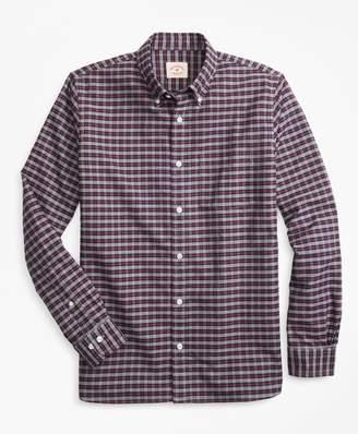 Brooks Brothers Plaid Supima Cotton Oxford Sport Shirt