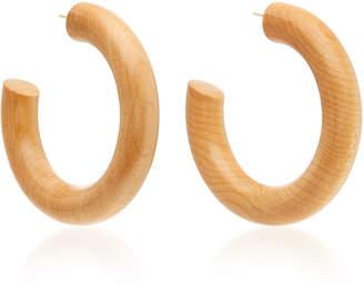 Sophie Monet The Large Pine Wood Hoop Earrings