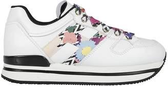 Hogan Floral Print Sneakers