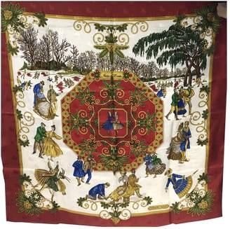 Hermes Carre 90 Red Silk Silk handkerchief