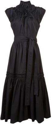 Proenza Schouler Gathered Tiered Dress