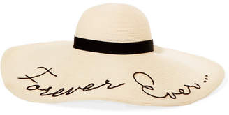 Eugenia Kim Forever Ever Embroidered Woven Paper Sunhat - Ivory