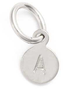 Women's Nashelle Tiny Initial Sterling Silver Coin Charm $22 thestylecure.com