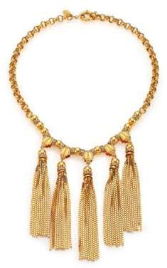 House of Lavande Sunset Crystal Tiered Tassel Necklace