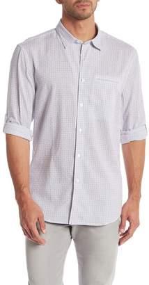 John Varvatos Tattersall Print Slim Fit Shirt