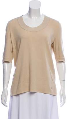 Akris Cashmere & Silk Top Beige Cashmere & Silk Top